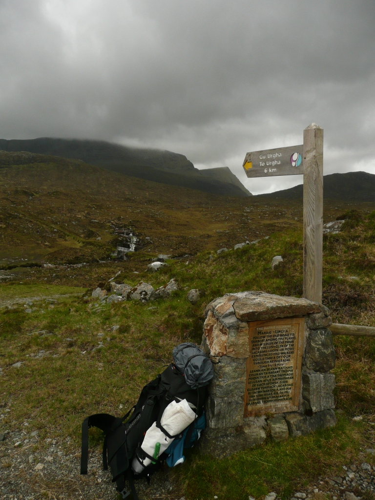 Walking trail on the Isle of Harris