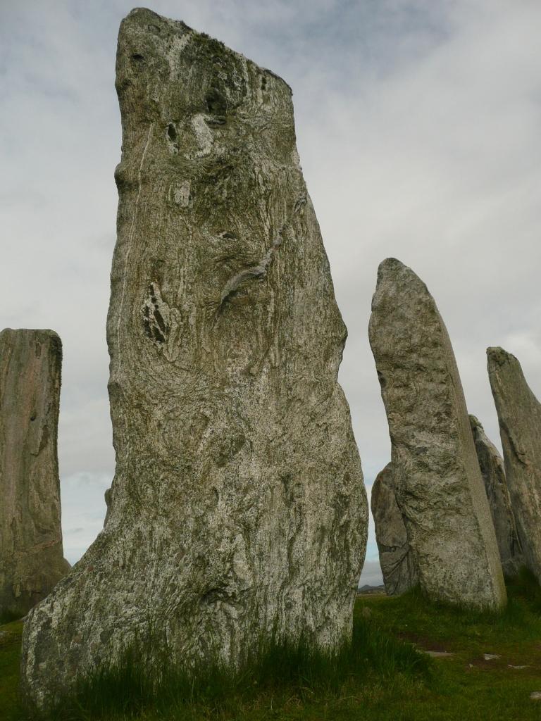 Impressive standing stones at Calanais