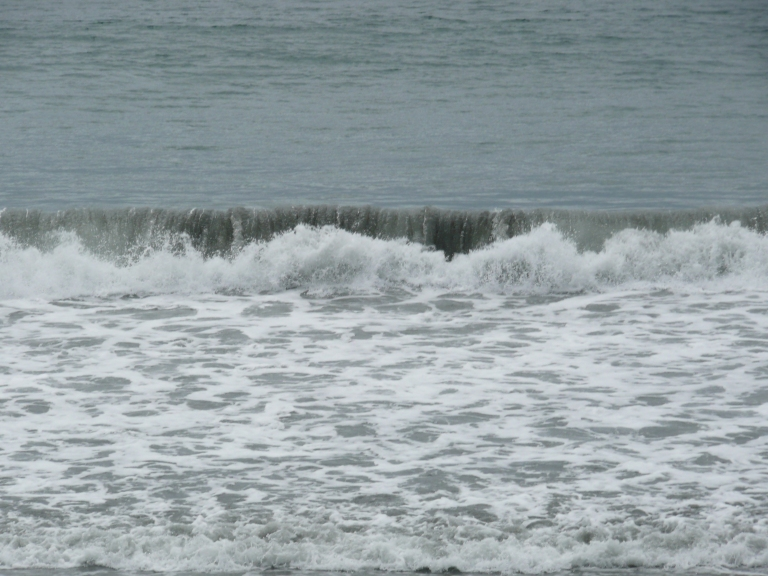 Waves on a Canadian beach